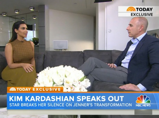 Kim Kardashian, Matt Lauer