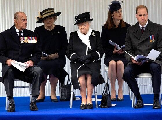 Queen Elizabeth, Prince Philip, Duke of Edinburgh, Prince William, Duke of Cambridge