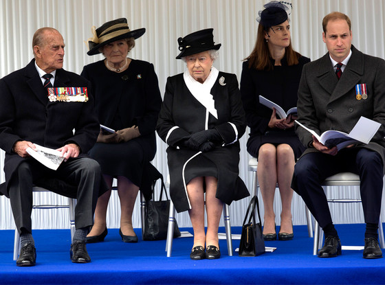 Queen Elizabeth, Prince Philip, Duke of Edinburgh, Prince William, Duke of Cambridge
