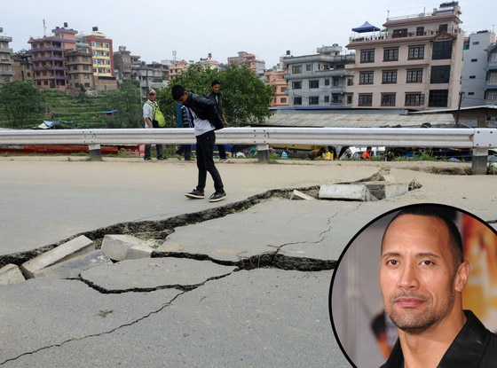 Nepal Earthquake, Dwayne Johnson