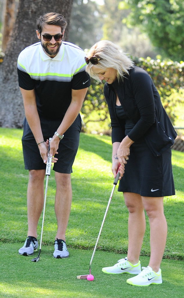 Jennie Garth, David Abrams, Celebs Golfing