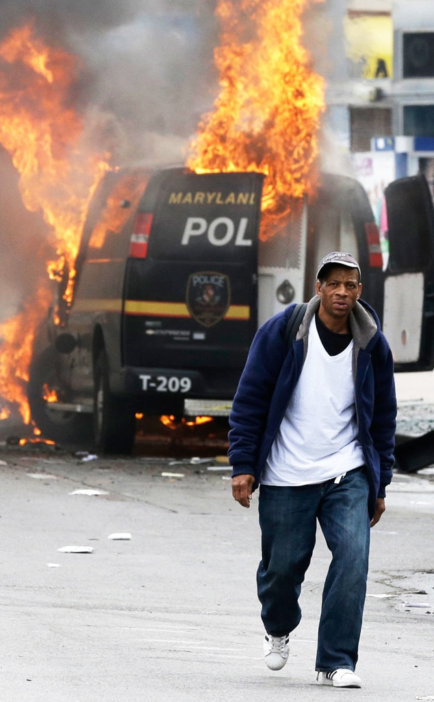 Baltimore Protest, Fire