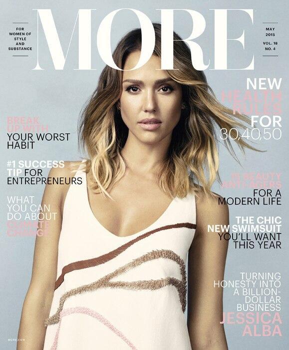 Jessica Alba, More Magazine