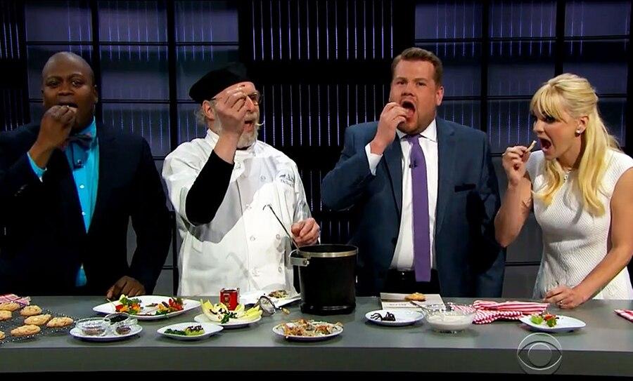 James Corden, Anna Faris, Tituss Burgess, Chef David George Gordon, Eating Bugs