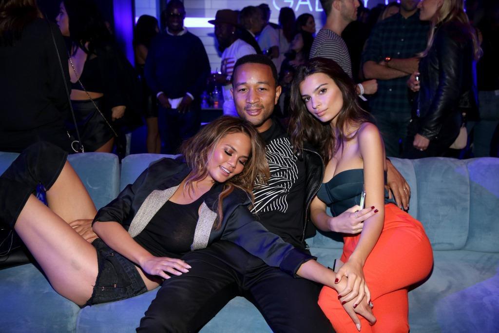 Chrissy Teigen, John Legend, Emily Ratajkowski