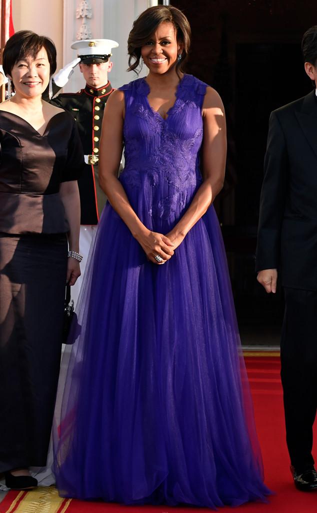 Michelle Obama, State Dinner Fashion