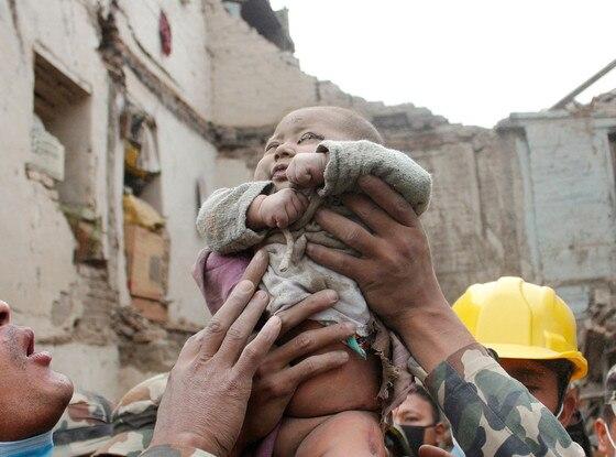 Nepal Earthquake, Baby