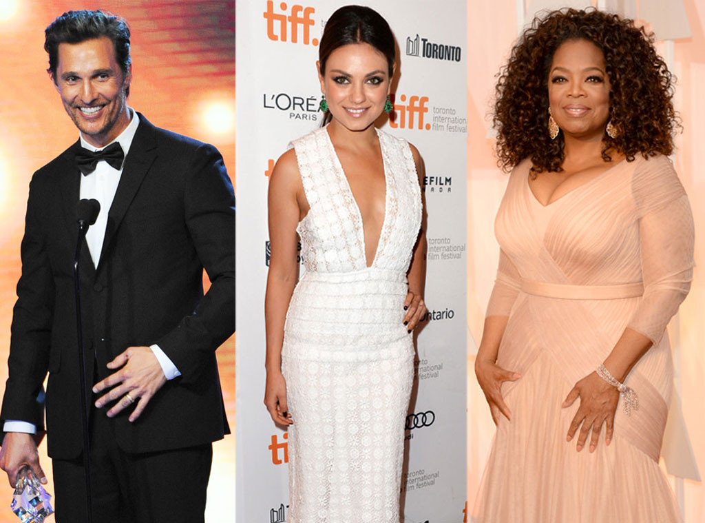 Matthew McConaughey, Mila Kunis, Oprah Winfrey