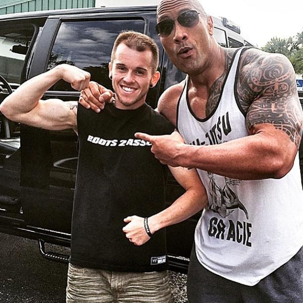 Dwayne Johnson, Nick Miller, Fan, Instagram