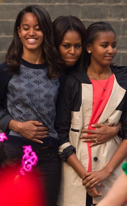 Sasha Obama, Malia Obama, Michelle Obama