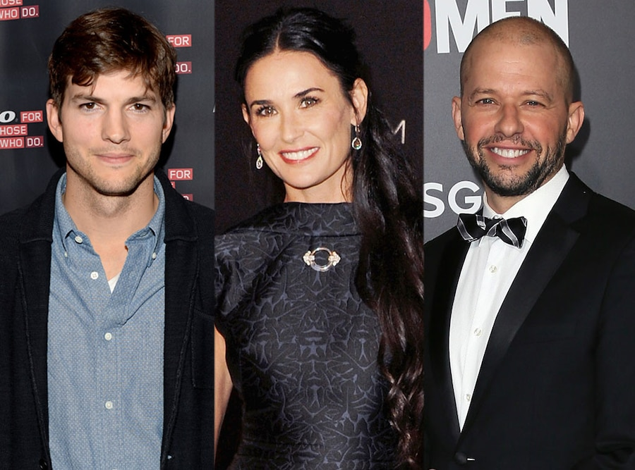 Ashton Kutcher, Demi Moore, Jon Cryer