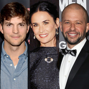 Ashton Kutcher, Demi Moore, Jon Cryer