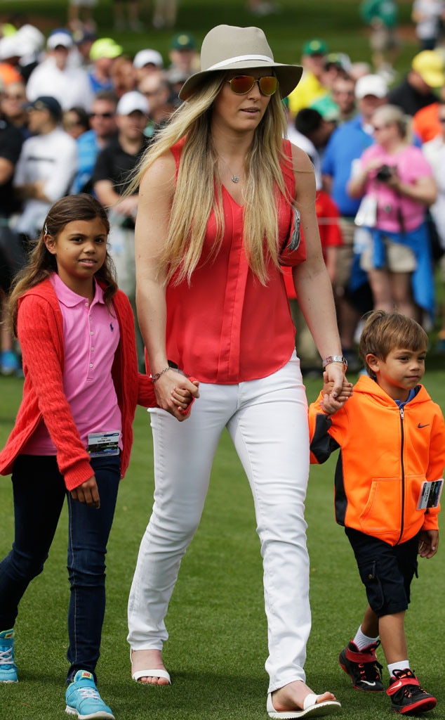 tiger woods u0026 39  kids and girlfriend lindsey vonn surprise