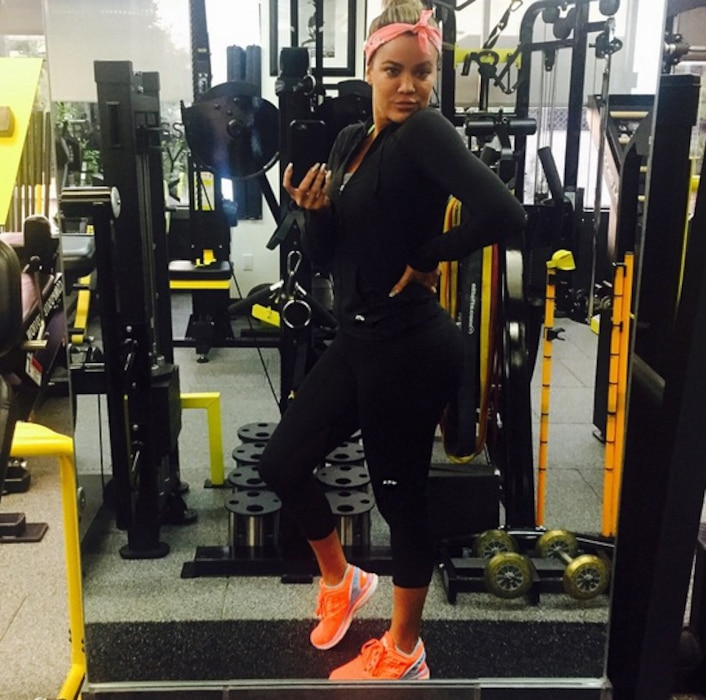 Khloe Kardashian, Gym Pics