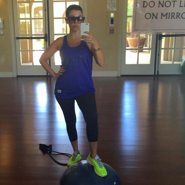 Kourtney Kardashian, Gym, Instagram