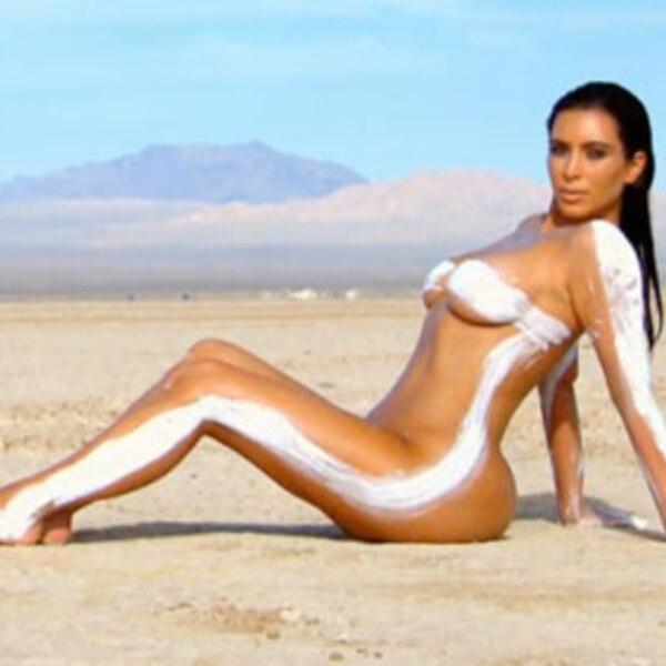 Going Tribal From 35 Naked Kim Kardashian Photos