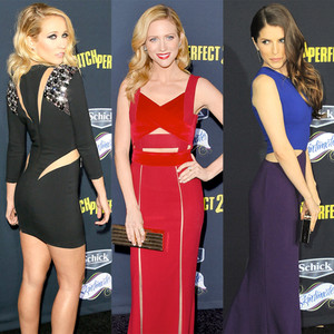 ESC, Pitch Perfect 2 Premiere, Cutout Dresses
