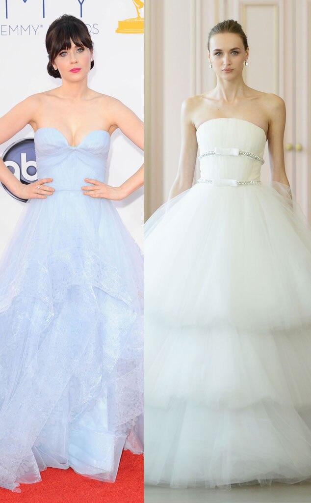 Zooey Deschanel From Celeb Wedding Dress Predictions E News
