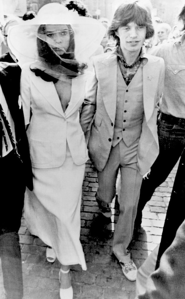 bianca jagger from celeb wedding dresses e news