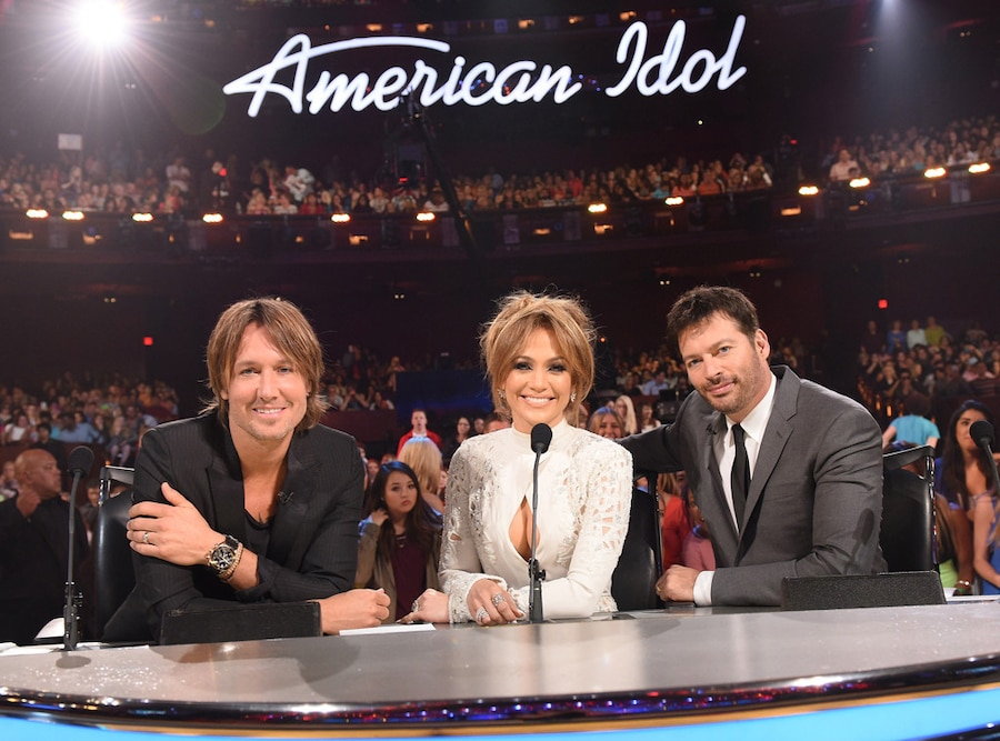 American Idol, Judges, Keith Urban, Jennifer Lopez and Harry Connick, Jr.
