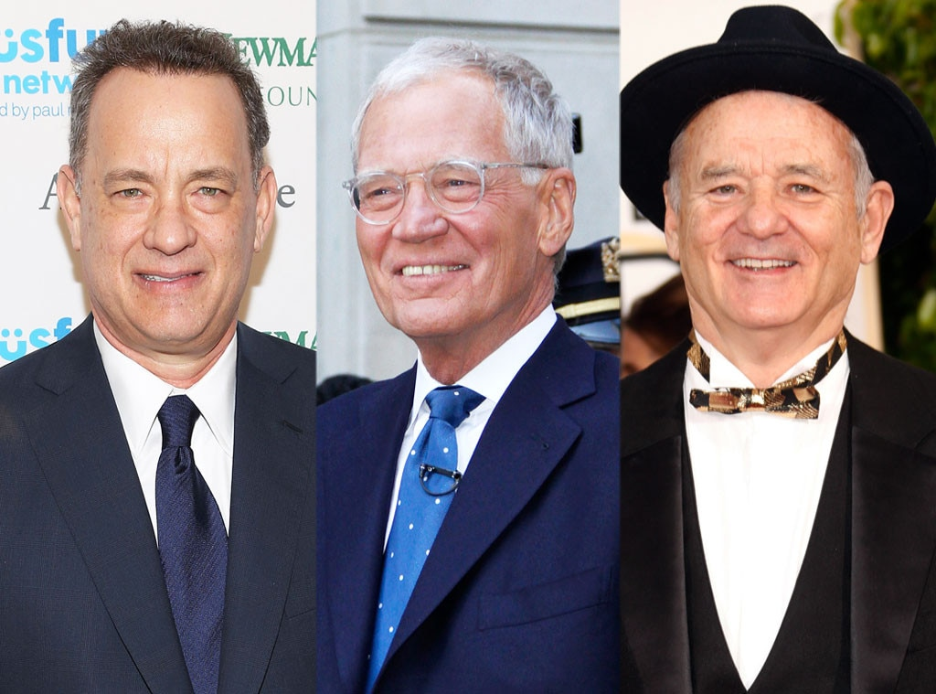 Tom Hanks, David Letterman, Bill Murray