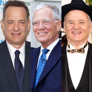 Tom Hanks, David Letterman, Bill Murray