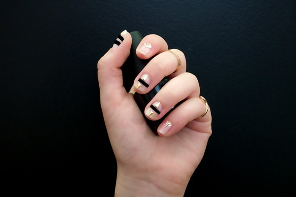 Nail art for dummies how to do the easiest negative space mani esc easy diy manicure prinsesfo Choice Image