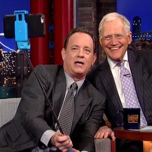 Tom Hanks, David Letterman, Selfie Stick