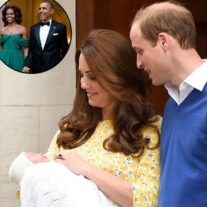 Barack Obama, Michelle Obama, Royal Baby, Prince William, Duchess Catherine