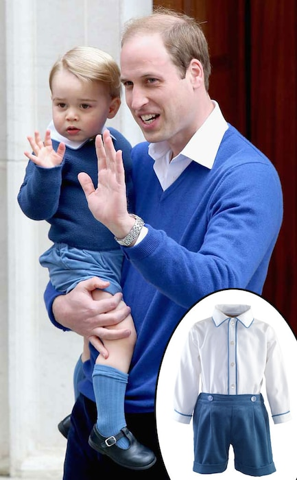 Prince William, Duke of Cambridge, Prince George, Rachel Riley Suit