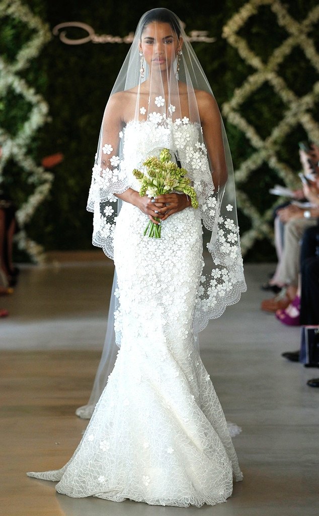 from most show stopping wedding gowns ever to hit the runway e news