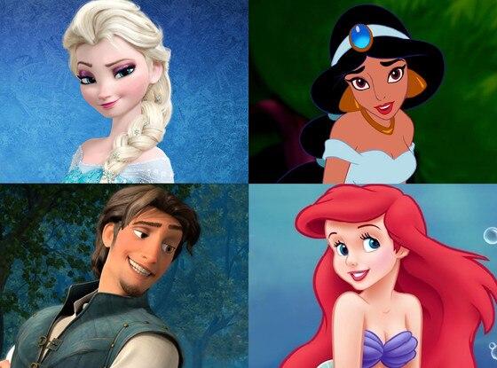 Disney Voices, Elsa, Jasmin, Flynn, Ariel