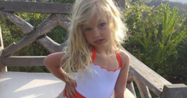 Jessica Simpson S Daughter Maxwell Models A Swimsuit Just