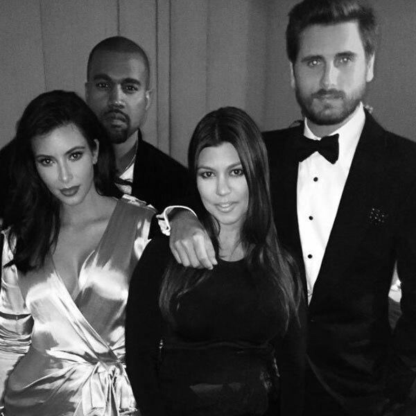 Kim Kardashian, Kanye West, Kourtney Kardashian, Scott Disick, Twitter