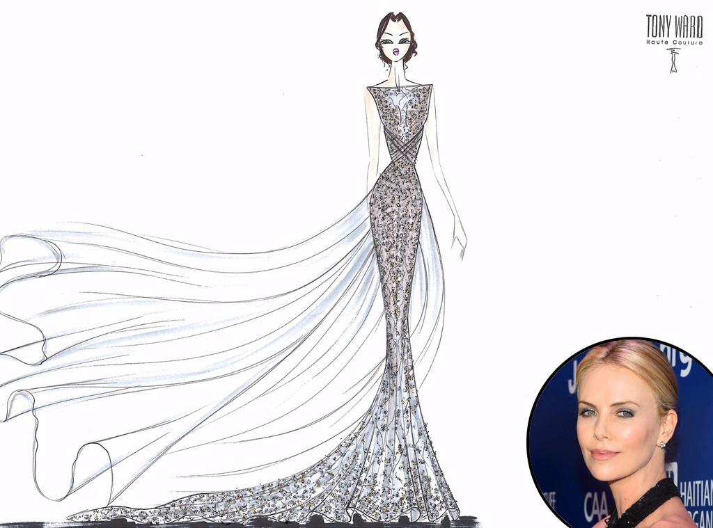 Tony ward from designer wedding dress sketches for sofia vergara lady