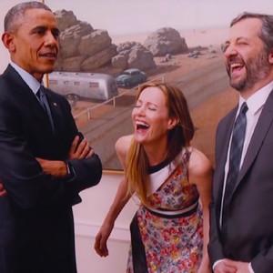 Judd Apatow, Barack Obama, Leslie Mann