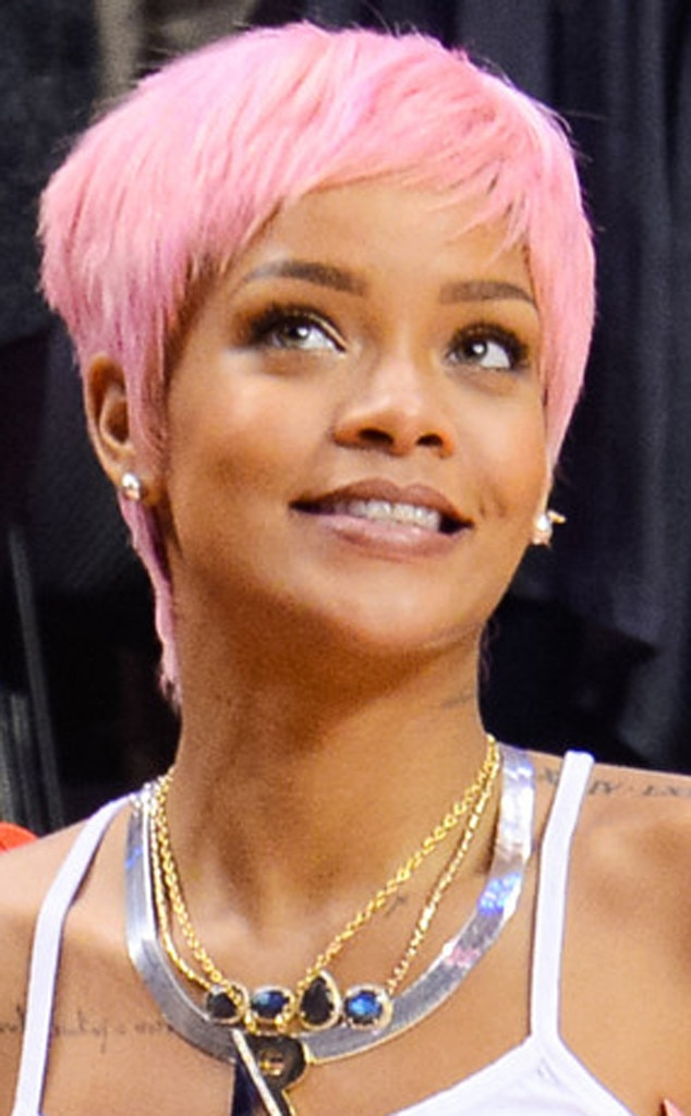 rihanna from stars with pink hair e news uk