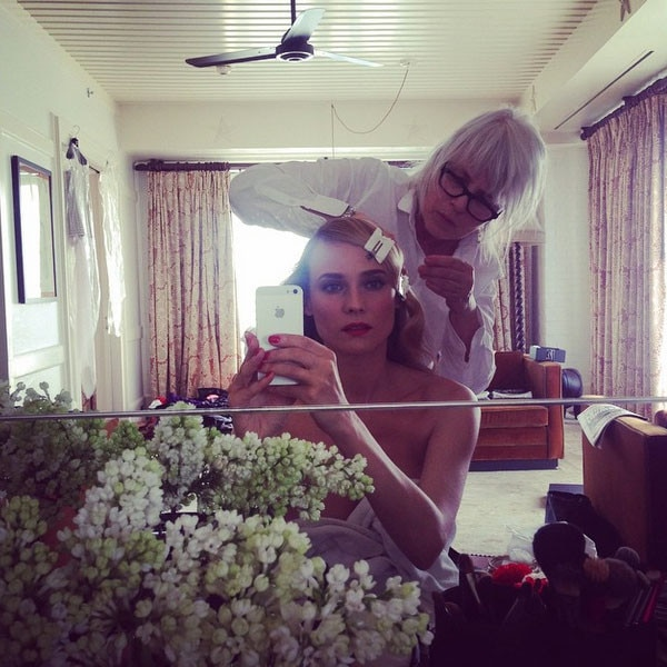 Diane Kruger Instagrams Her Beauty Look While Getting ...