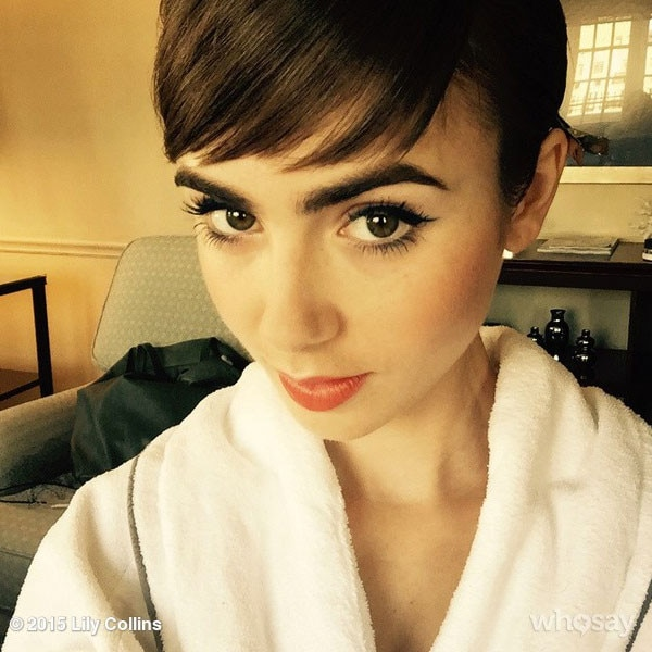 lily collins from met gala 2015  instagrams  u0026 twitpics