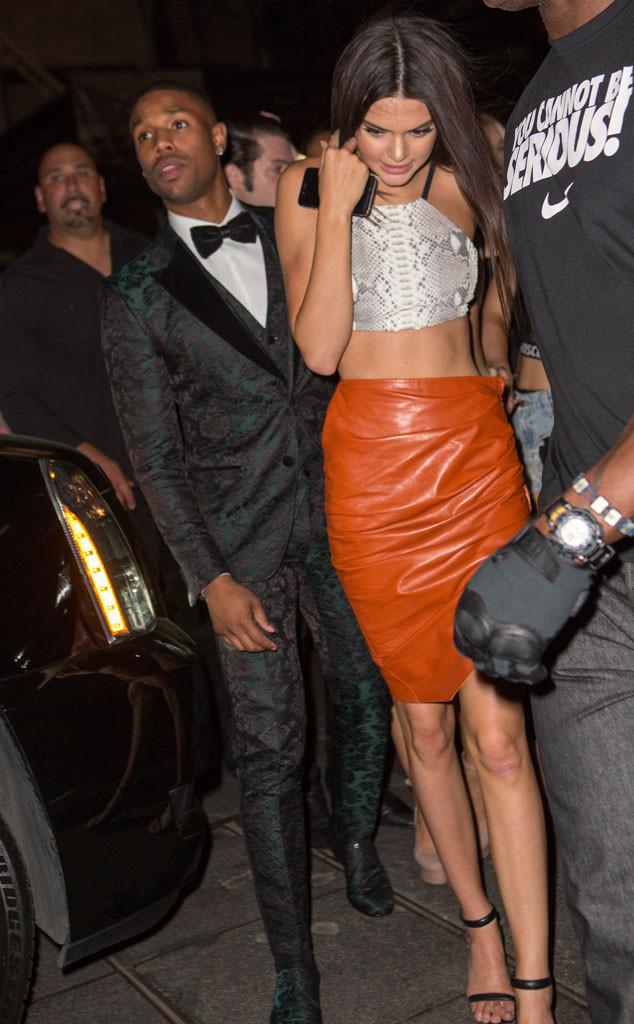 Michael B. Jordan with rumored girlfriend Kendall Jenner
