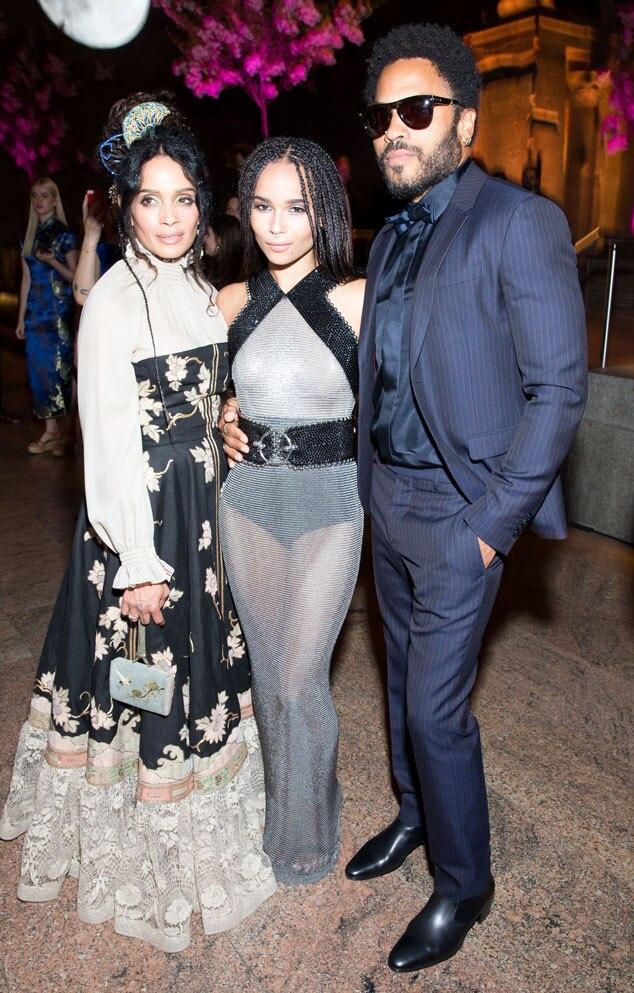 Lisa Bonet, Zoe Kravitz, Lenny Kravitz, Met Gala 2015, Inside