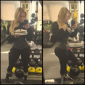 Khloe Kardashian, Waist Trainer, Instagram