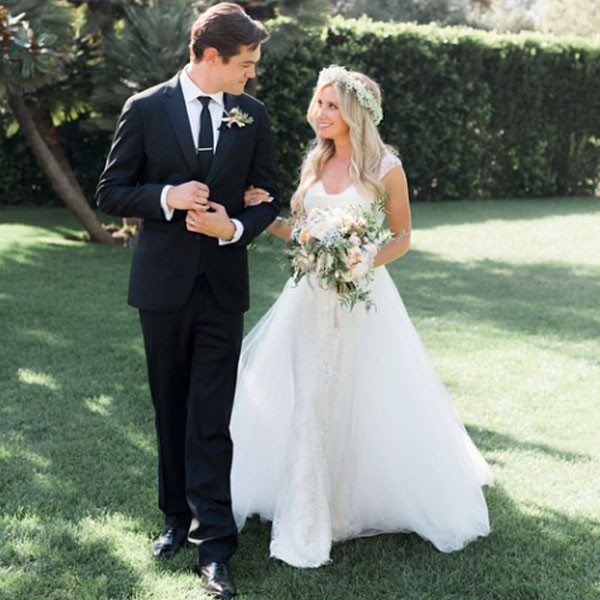 Ashley Tisdale, Christopher French, Wedding
