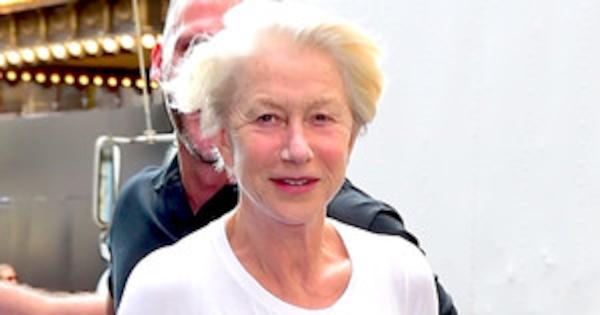 Helen Mirren, 69, shows off her hourglass figure in