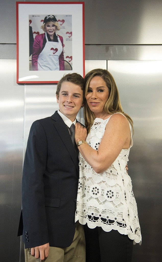 Cooper Endicott with his mother Melissa Rivers
