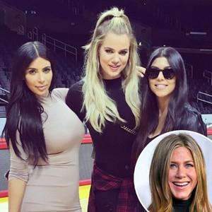 Kim Kardashian, Khloe Kardashian, Kourtney Kardashian, Jennifer Aniston