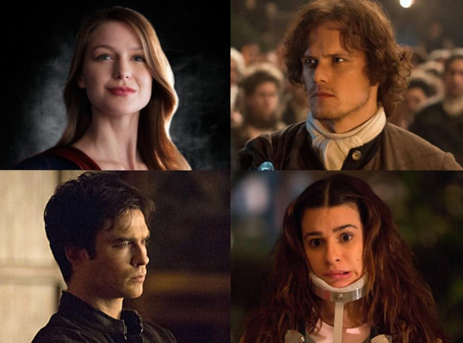 Supergirl, The Vampire Diaries, Outlander, Scream Queens