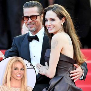 Angelina Jolie, Brad Pitt, Britney Spears