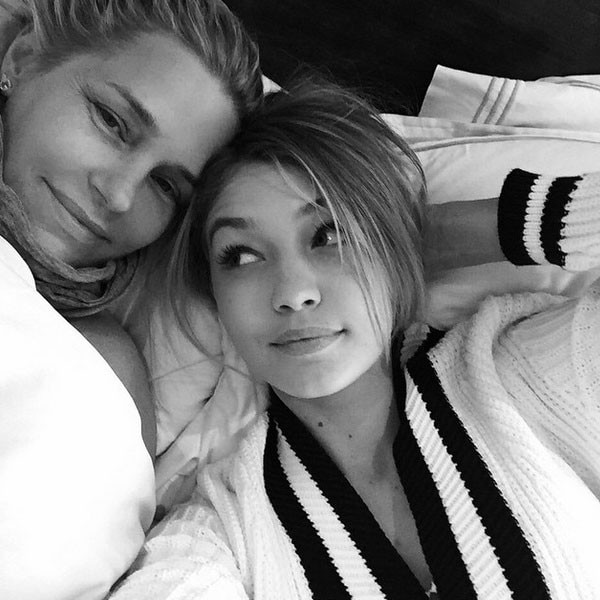 Gigi Hadid Climbs in Bed With Mom Yolanda Foster—See the