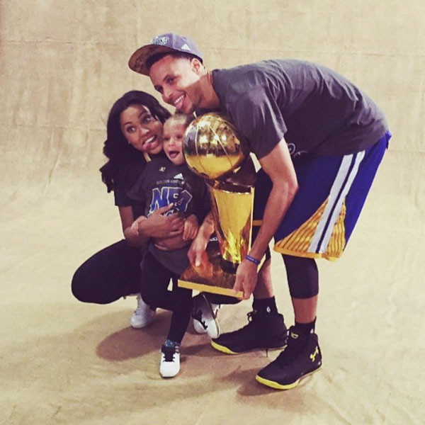 Stephen Curry, Ayesha Curry, Riley Curry